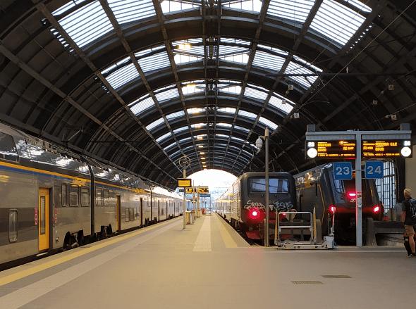 Partenza da Milano per viaggio d'Italia in treno